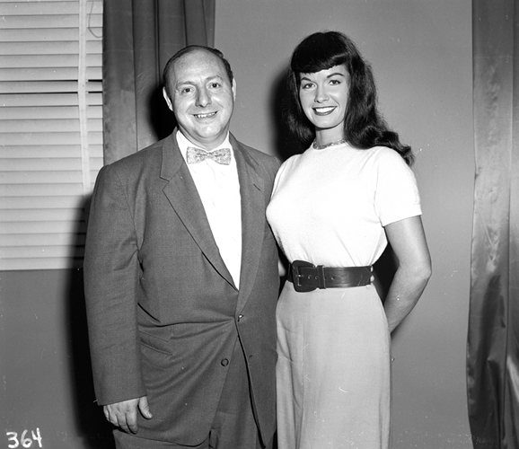 Bettie Page and Irving Klaw